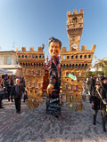 VIAREGGIO, ITALY - FEBRUARY 23:   allegorical float of new Itali Stock Image