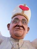 VIAREGGIO, ITALY - FEBRUARY 2:   allegorical float of pope Bergo Royalty Free Stock Photo