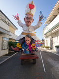 VIAREGGIO, ITALY - FEBRUARY 2:   allegorical float of pope Bergo Royalty Free Stock Photography