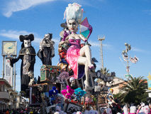 VIAREGGIO, ITALY - February 26:   allegorical float  at Viareggi Royalty Free Stock Photography