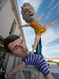 VIAREGGIO, ITALY - February 26:   allegorical float  at Viareggi Stock Images