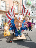 VIAREGGIO, ITALY - February 26:   allegorical float  at Viareggi Stock Photography