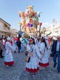 VIAREGGIO, ITALY - FEBRUARY 23:   allegorical float at Viareggio Stock Photo