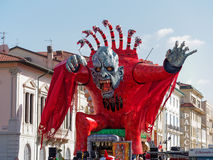 VIAREGGIO, ITALY - FEBRUARY 23:   allegorical float at Viareggio Royalty Free Stock Photo