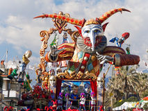 VIAREGGIO, ITALY - FEBRUARY 23:   allegorical float at Viareggio Stock Photography