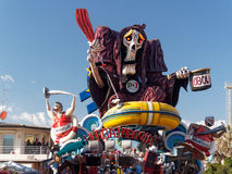 VIAREGGIO, ITALY - FEBRUARY 23:   allegorical float at Viareggio Stock Images