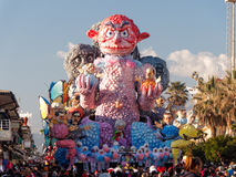VIAREGGIO, ITALY - FEBRUARY 23:   allegorical float at Viareggio Royalty Free Stock Photography