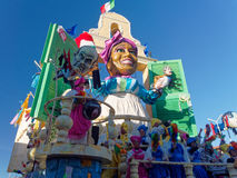 VIAREGGIO, ITALY - FEBRUARY 2:   allegorical float at Viareggio Stock Images