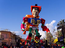 VIAREGGIO, ITALY - FEBRUARY 2:   allegorical float at Viareggio Stock Photos