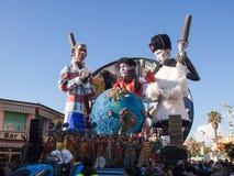 VIAREGGIO, ITALY - FEBRUARY 2:   allegorical float at Viareggio Royalty Free Stock Photo