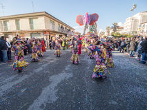 VIAREGGIO, ITALY - FEBRUARY 2:   allegorical float at Viareggio Royalty Free Stock Photo