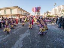 VIAREGGIO, ITALY - FEBRUARY 2:   allegorical float at Viareggio Royalty Free Stock Photography