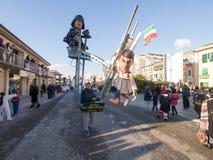 VIAREGGIO, ITALY - FEBRUARY 2:   allegorical float at Viareggio Stock Photography