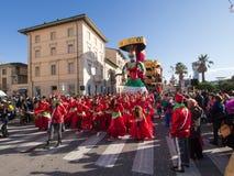 VIAREGGIO, ITALY - FEBRUARY 2:   allegorical float at Viareggio Royalty Free Stock Images