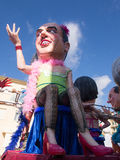 VIAREGGIO, ITALY - FEBRUARY 2:   allegorical float at Viareggio Royalty Free Stock Photography