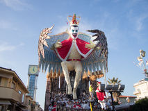 VIAREGGIO, ITALY - FEBRUARY 23:   allegorical float at Viareggio Royalty Free Stock Photos