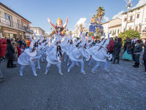 VIAREGGIO, ITALY - FEBRUARY 2:   allegorical float at Viareggio Royalty Free Stock Image