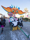 VIAREGGIO, ITALY - FEBRUARY 2:   allegorical float at Viareggio Royalty Free Stock Photos