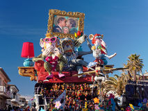 VIAREGGIO, ITALY - FEBRUARY 2:   allegorical float about the wor Royalty Free Stock Photography