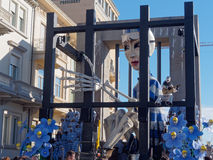 VIAREGGIO, ITALY - FEBRUARY 2:   allegorical float about world e Stock Images