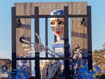 VIAREGGIO, ITALY - FEBRUARY 2:   allegorical float about world e Royalty Free Stock Image