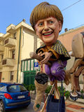 VIAREGGIO, ITALY - FEBRUARY 23:   allegorical mask of German pri Stock Photos