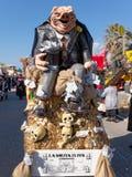 VIAREGGIO, ITALY - FEBRUARY 23:   allegorical mask on the italia Stock Image