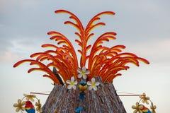 VIAREGGIO, ITALY - FEBRUARY 17, 2013 - Carnival Show parade on town street Stock Photography