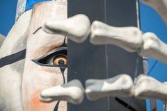 VIAREGGIO, ITALY - FEBRUARY 17, 2013 - Carnival Show parade on town street Royalty Free Stock Photography
