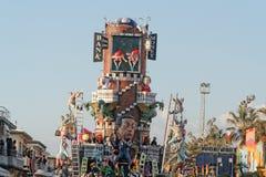 VIAREGGIO, ITALY - February 7:   parade of allegorical chariot a Stock Photo