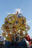 VIAREGGIO, ITALY - February 7:   parade of allegorical chariot a Stock Photos