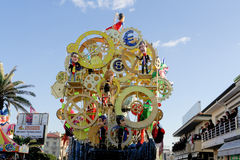 VIAREGGIO, ITALY - February 7:   parade of allegorical chariot a Royalty Free Stock Images