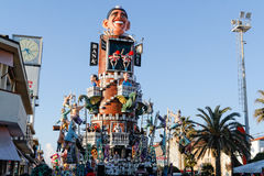 VIAREGGIO, ITALY - February 7:   parade of allegorical chariot a Royalty Free Stock Photos