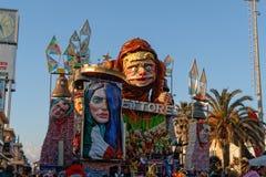 VIAREGGIO, ITALY - February 7:   parade of allegorical chariot a Royalty Free Stock Image