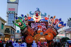 VIAREGGIO, ITALY - February 7:   parade of allegorical chariot a Stock Image