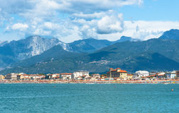 Viareggio panorama, Tuscany, Italy. Royalty Free Stock Images