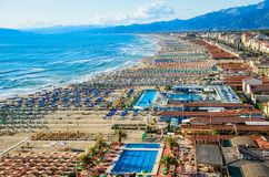 Viareggio panoramic view. stock images