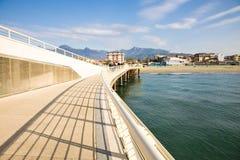 Viareggio pier, Italy stock photography