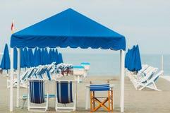Viareggio plaża, Włochy, Tuscany zdjęcia royalty free