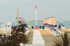Viareggio plaża, Włochy, Tuscany fotografia royalty free