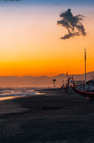Viareggio plaża, Włochy, Tuscany obraz stock