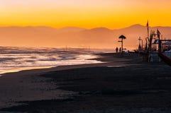 Viareggio plaża, Włochy, Tuscany obrazy royalty free