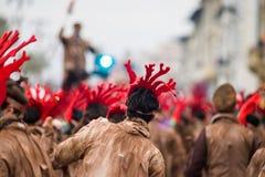 Viareggio`s carnival,2019 edition stock images