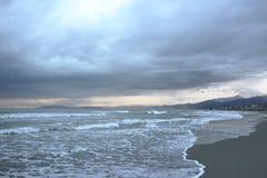 Viareggio shore royalty free stock image