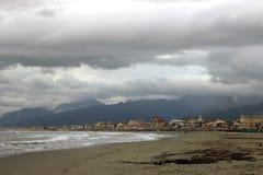 Viareggio strand royaltyfria bilder
