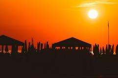 Viareggio strand, Italien, Tuscany royaltyfri bild