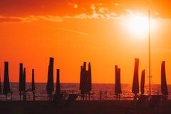 Viareggio strand, Italien, Tuscany arkivbilder