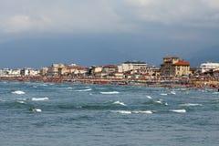 Viareggio. View of Versilia coast - Viareggio stock photography