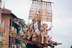 Viareggios Karneval, Ausgabe 2019 stockbilder