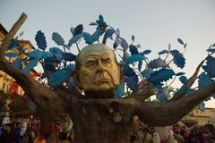 Viareggios karneval, upplaga 2019 arkivbild